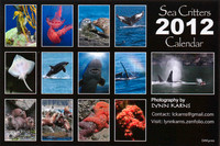 2012 Sea Critters Calender Back Cover